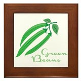 Green beans Framed Tiles
