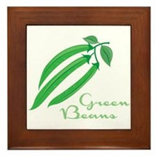 Green Beans Framed Tile