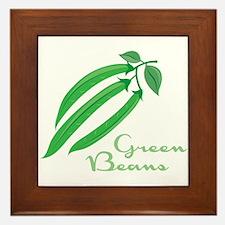 Green Beans Framed Tile