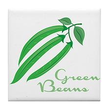 Green Beans Tile Coaster