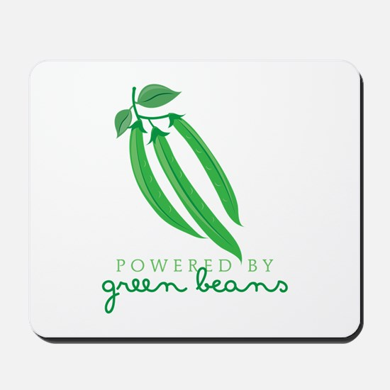 Powered By Green Beans Mousepad