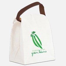 Powered By Green Beans Canvas Lunch Bag