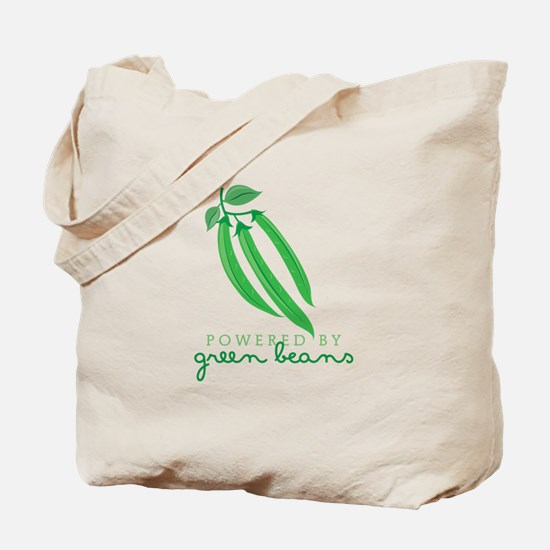 Powered By Green Beans Tote Bag