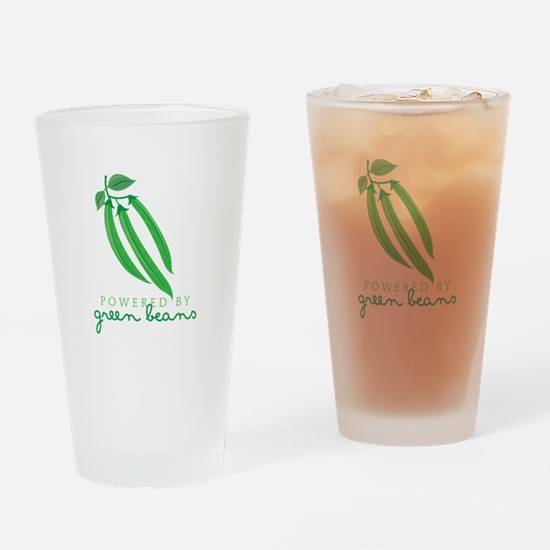 Powered By Green Beans Drinking Glass