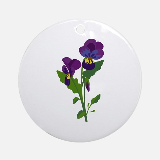 Sweet Violets Ornament (Round)