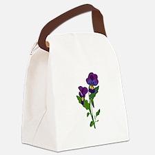 Sweet Violets Canvas Lunch Bag