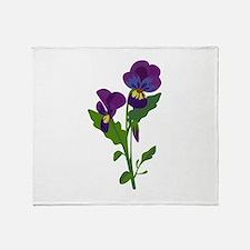 Sweet Violets Throw Blanket