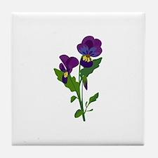 Sweet Violets Tile Coaster
