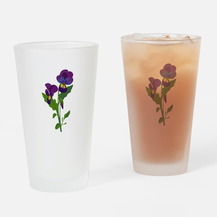 Sweet Violets Drinking Glass