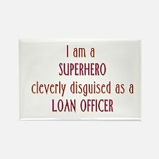 Superhero Loan Officer Rectangle Magnet (100 pack)