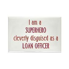 Superhero Loan Officer Rectangle Magnet