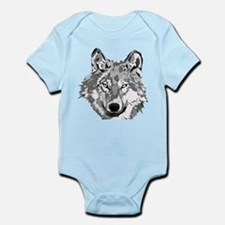 Hipster Wolf Head Body Suit