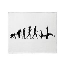 Evolution of Capoeira Throw Blanket