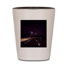 Lightening on NJ Turnpike Shot Glass