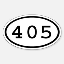 405 Oval Oval Decal