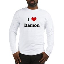 I Love Damon Long Sleeve T-Shirt