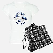 Football Colors Blue And Pajamas