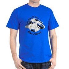 Football Colors Blue And Black T-Shirt
