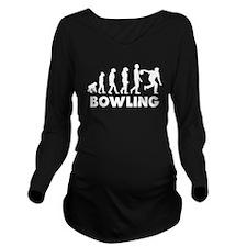 Bowling Evolution Long Sleeve Maternity T-Shirt