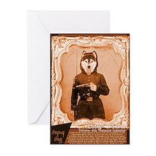 Husky LEFTY Greeting Cards (Pk of 10)