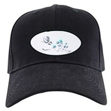 bunny with blue flowers Baseball Cap