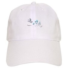bunny with blue flowers Cap