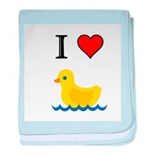 Cute Love ducks baby blanket