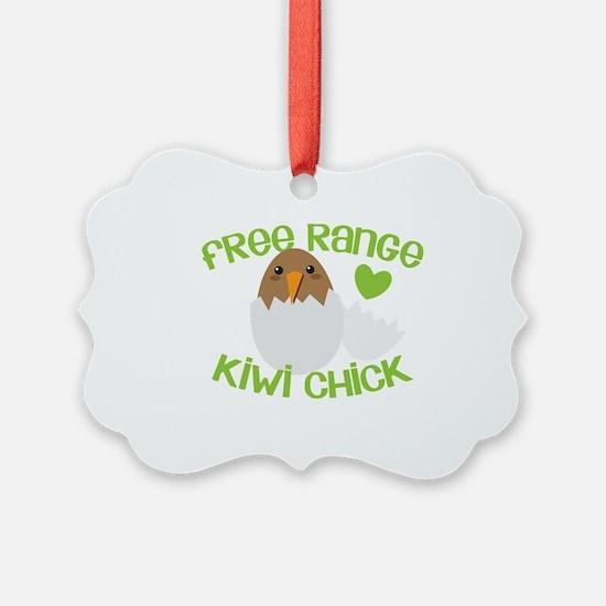 Free range KIWI Chick Ornament