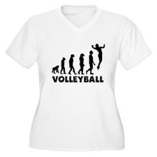 Volleyball Serve Evolution Plus Size T-Shirt