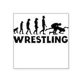 Wrestling silhouette Square