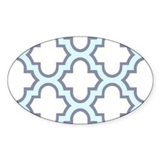 Light Blue Quatrefoil Pattern Decal