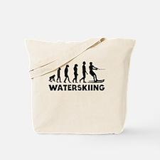 Waterskiing Evolution Tote Bag