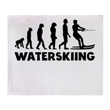 Waterskiing Evolution Throw Blanket