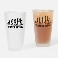 Waterskiing Evolution Drinking Glass