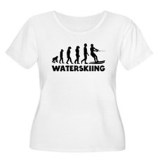 Waterskiing Evolution Plus Size T-Shirt