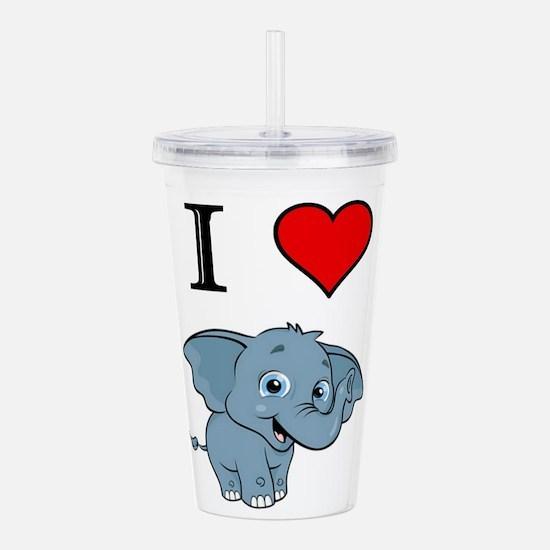 Cool Elephant Acrylic Double-wall Tumbler