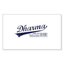 Dharma Baseball Rectangle Decal