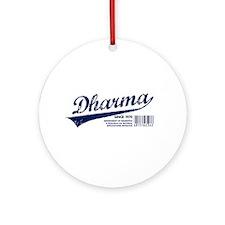 Dharma Baseball Ornament (Round)