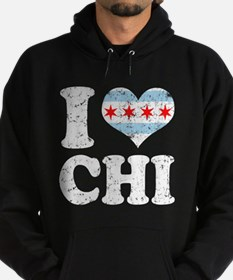 I heart Chicago Flag CHI Hoodie