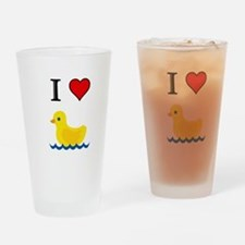 Unique Yellow duck Drinking Glass