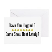 Hugged Game Show Host Greeting Cards (Pk of 10
