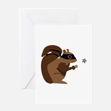Masked Squirrel Greeting Cards