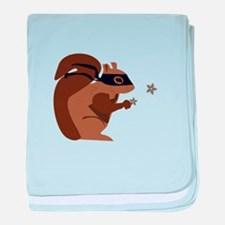 Masked Squirrel baby blanket