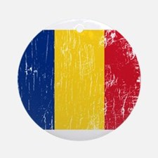 Vintage Romania Ornament (Round)