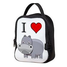Cute I love Neoprene Lunch Bag