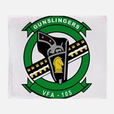 Funny Gunslinger Throw Blanket