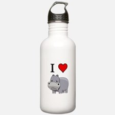 Funny Hippo Water Bottle