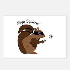Ninja Squirrel Postcards (Package of 8)