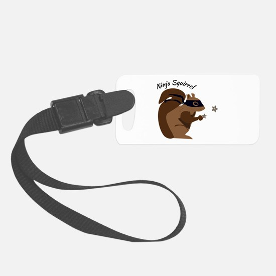 Ninja Squirrel Luggage Tag