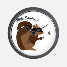 Ninja Squirrel Wall Clock